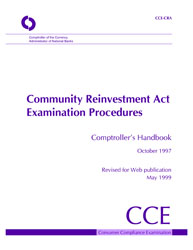 Comptroller's Handbook: Community Reinvestment Act Examination Procedures Cover Image