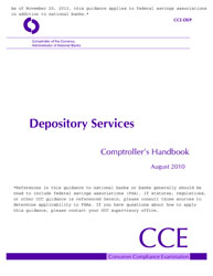 Comptroller's Handbook: Depository Services Cover Image
