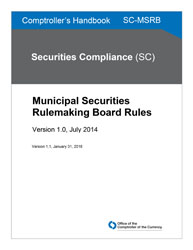 Comptroller's Handbook: Municipal Securities Rulemaking Board Rules Cover Image
