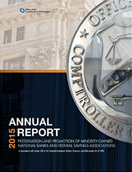 Report to Congress on Preserving and Promoting Minority Depository Institutions 2015 Cover Image
